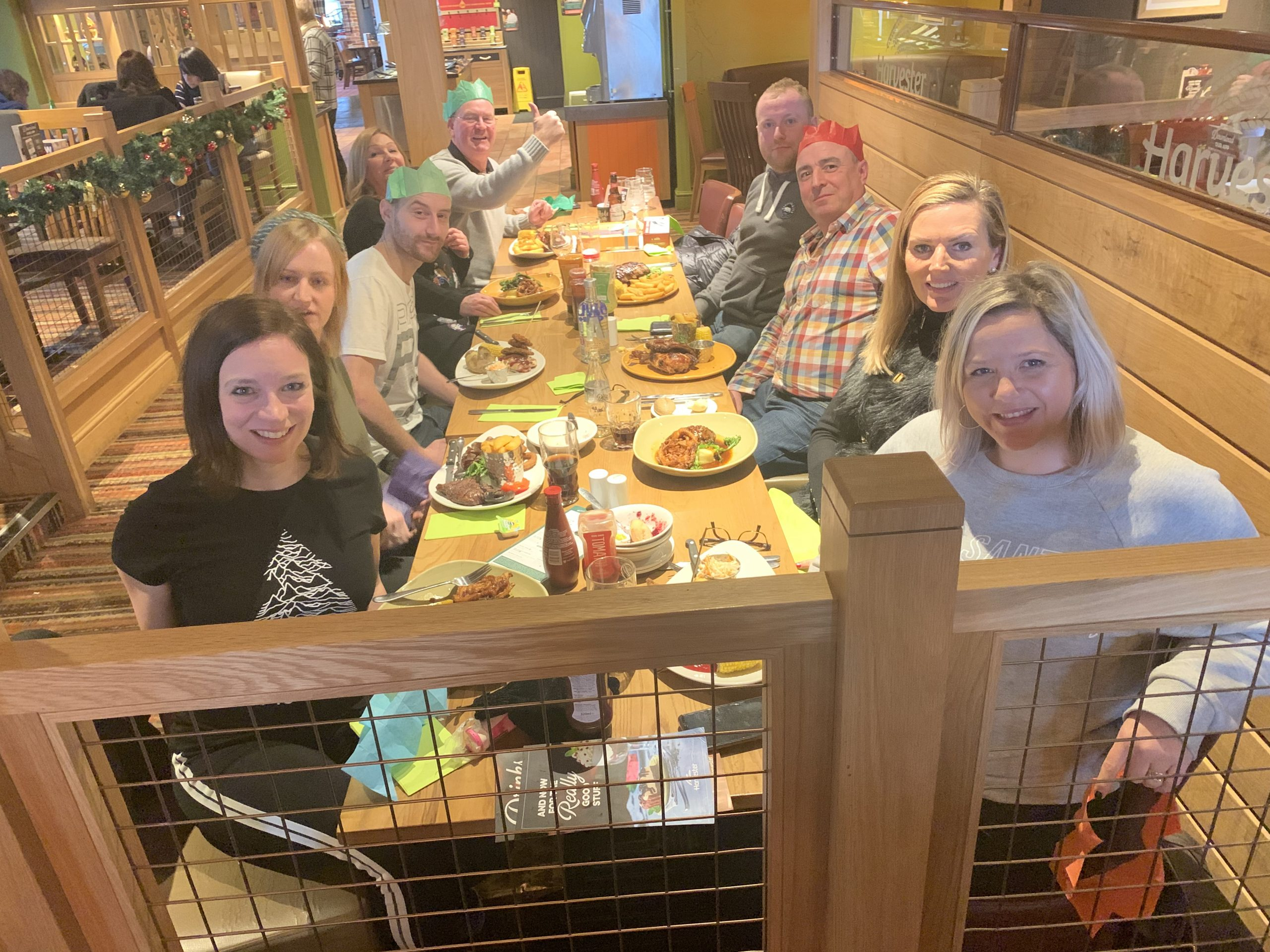 furniture hire company team christmas lunch