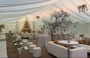 marquee furniture hire winter wedding