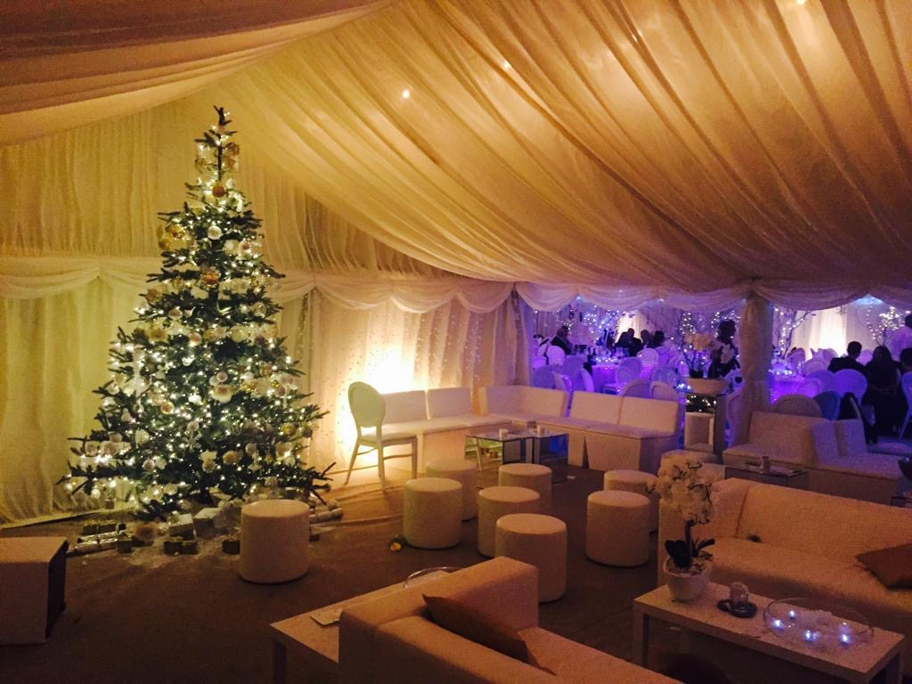 marquee furniture hire winter wedding