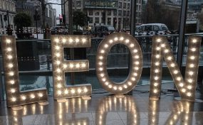 event furniture hire London: light up letter hire