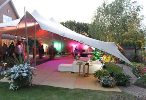 garden party furniture hire: stretch tent
