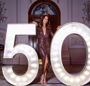 Light up number hire: Andrea Mclean
