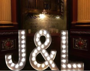 light up letter hire London