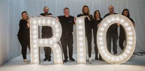 light up letter hire: team rio lounge