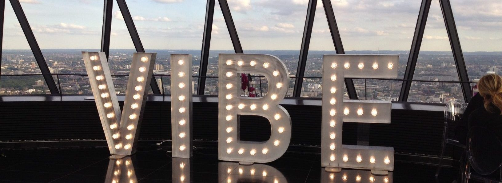 light up letter hire london: Gherkin