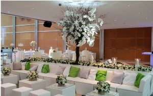 Rio Lounge sofa hire London city canary wharf wedding