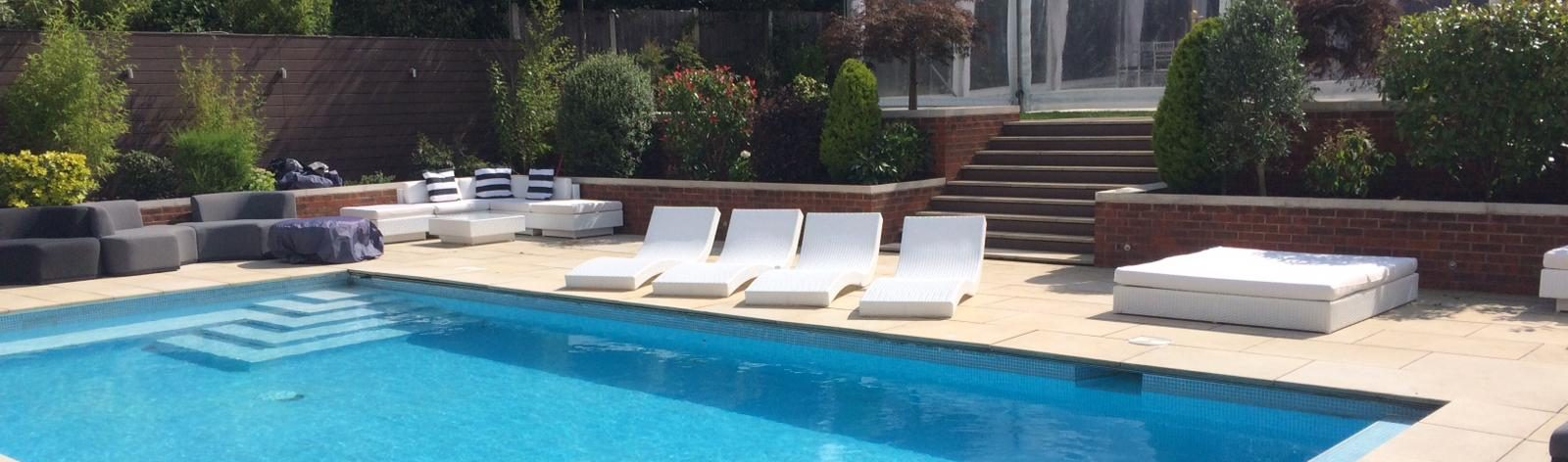 outdoor furniture hire: pool party