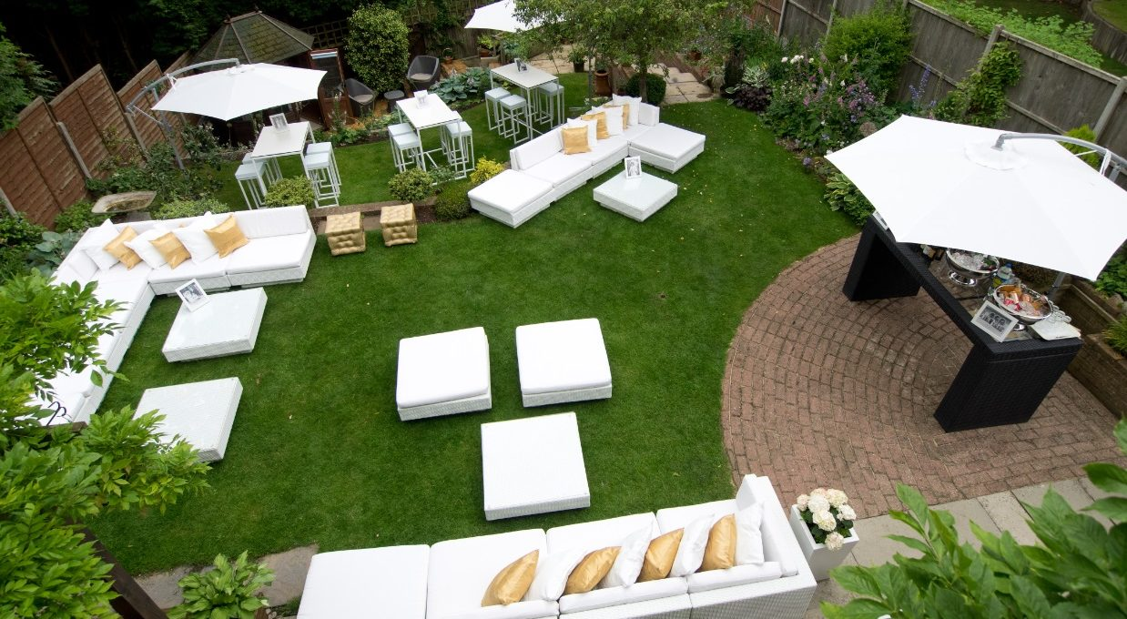 Hiring garden furniture for outdoor party