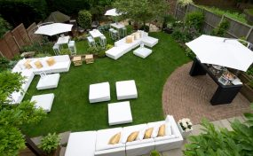 Hiring garden furniture for outdoor party