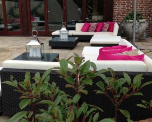 hiring outdoor furniture for a party