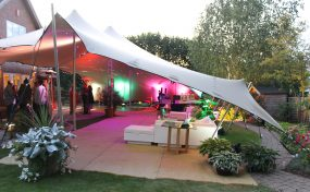 garden furniture hire: stretch tent