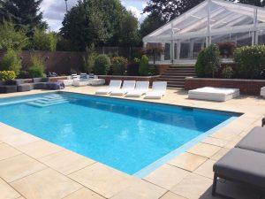 pool party furniture hire: rattan sunbeams