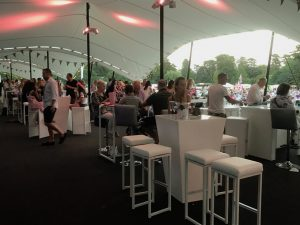 Marquee furniture hire: poseur tables and bar stool hire