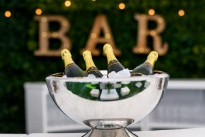 vip lounge accessories for hire - champagne bowl