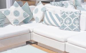 white rattan furniture hire for white party
