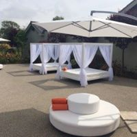 outdoor furniture hire: waterproof daybed hire