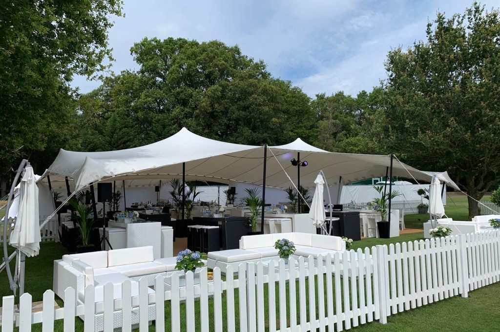 party furniture hire: rattan sofas at polo