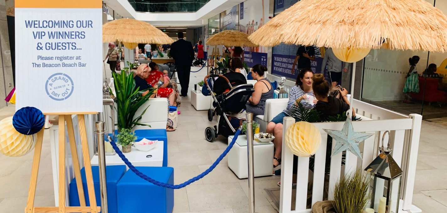 event furniture hire: shopping centre