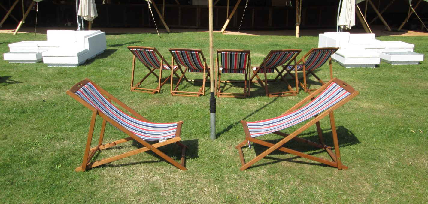 festival furniture hire: deckchair hire at V festival
