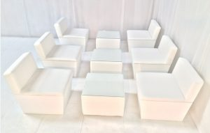 socially distanced modules - furniture hire