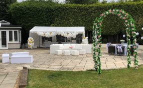 wedding furniture hire: garden wedding