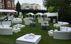 outdoor furniture hire for London bar mitzvah