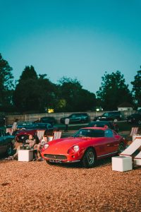 classic cars at drive in cinema