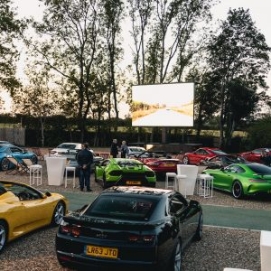 furniture hire for events: drive in cinema