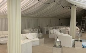 Party furniture hire X factor Green Room
