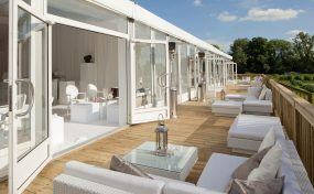 outdoor furniture hire on a sun terrace