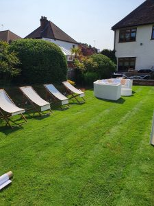 hire deckchairs for a garden party