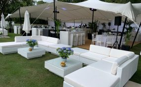 hiring sofas: polo event