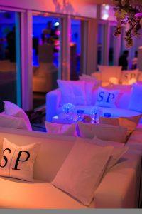 Club lounge sofa hire wedding