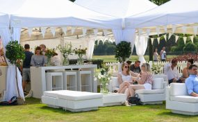 uk furniture hire at outdoor event