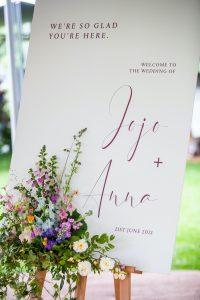 Sophie Amor wedding sign