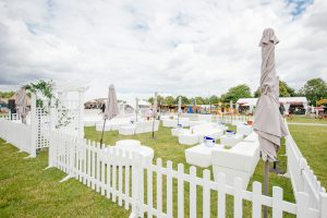 White furniture hire at taste of London event